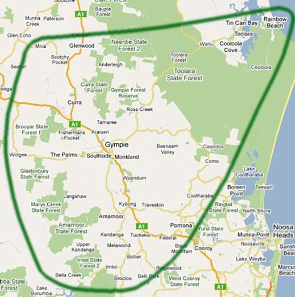Weeroona Service Area Map